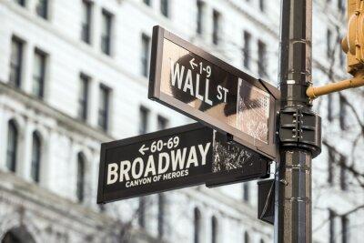 Naklejka Znak Wall Street w Nowym Jorku
