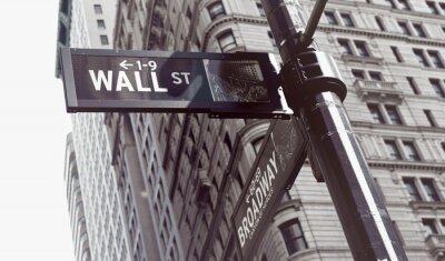 Naklejka Znaki na skrzyżowaniu ściany i Broadway Streets