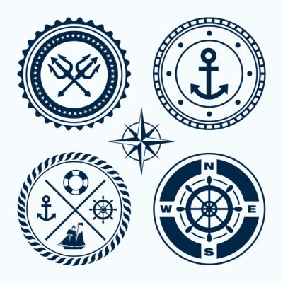 Naklejka Znaki żeglugowe