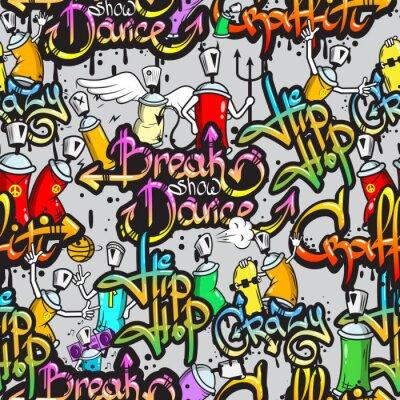 Naklejka Znaków Graffiti szwu wzór
