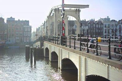 Naklejka Znani Skinny Bridge, Amsterdam