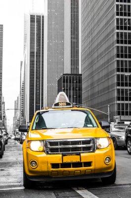 Naklejka żółta taksówka w Nowym Jorku