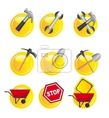 żółte znaki