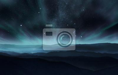 Naklejka Zorza polarna