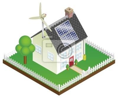 Zrównoważony dom energii odnawialnej