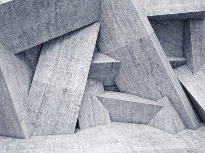 Obraz 3d geometryczne ściany