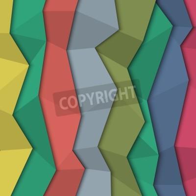 Obraz 3d kolorowe tło papieru - origami stylu.