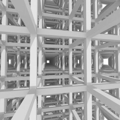 Obraz 3d kolumny i belki, architektura tła.
