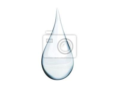 Obraz 3d - kropla wody