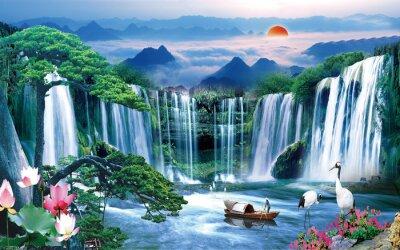 Obraz 3d lake wallpaper nature