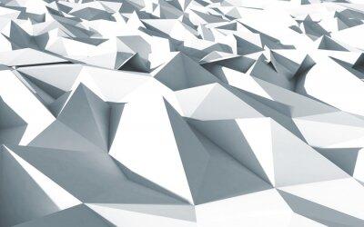 Obraz 3d polygone beau cristaux lubiący tekstury blanc