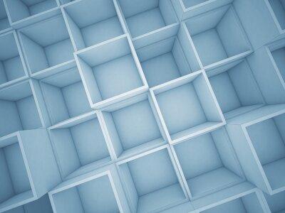 Obraz 3d streszczenie kostki tle