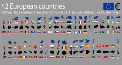 Obraz 42 kraje europejskie