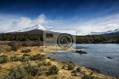 A view of the Tierra del Fuego National Park in Ushuaia, Argentina