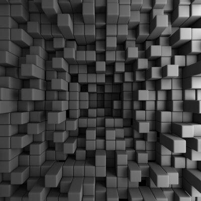 Obraz Abstract 3D Cubes Blocks Wallpaper Background