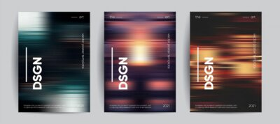 Obraz Abstract covers with Motion gradient. Blurred colors vector background.