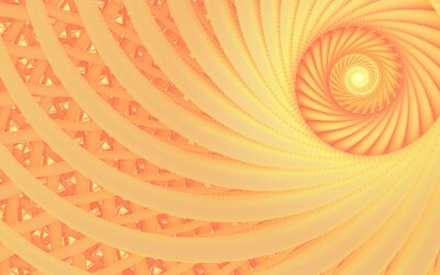Obraz Abstract fantasy swirl tunnel with tender peach lines