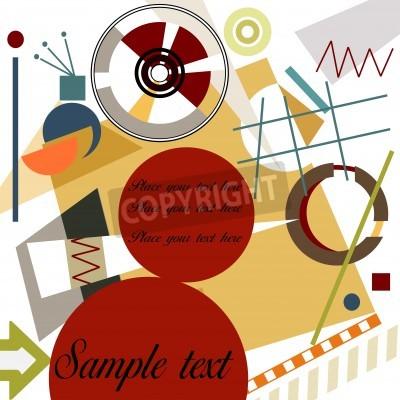 Obraz Abstract geometrical background; Master Kandinsky style