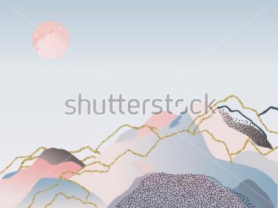 Obraz Abstract minimalne tło. Ilustracja skandynawski. Ilustracja wektorowa