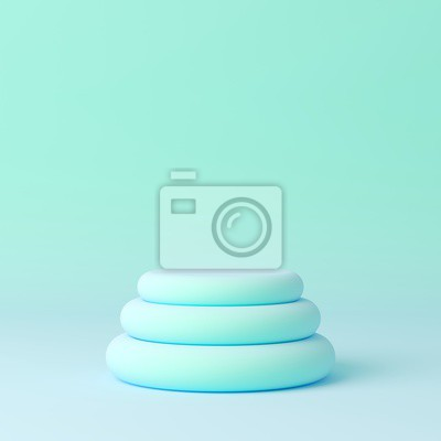 Obraz Abstract mock up scene pastel color. geometry shape podium background for product. 3d rendering