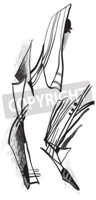 Obraz Abstrakcja przez kubizmu.