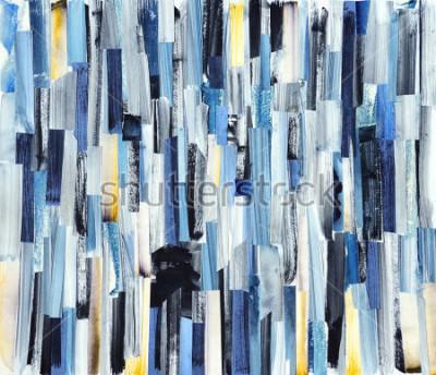 Obraz Abstrakcjonistycznej sztuki tło z multicolor lampasami i cyraneczkami. Tekstury atramentu na papierze