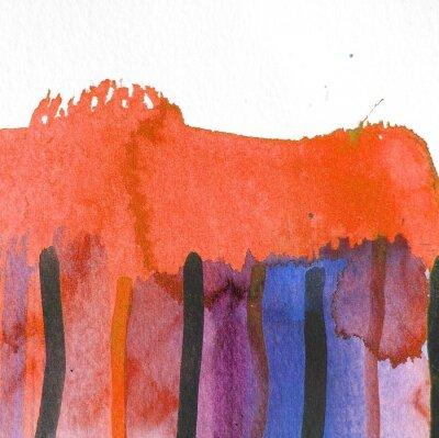Obraz abstrakcyjna akwarela wzór tła