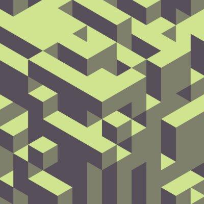 Obraz Abstrakcyjne geometryczne 3d kolorowe tło.