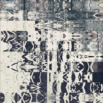 Obraz abstrakcyjne geometryczne pasy poziome wzór, papier teksturowane monochromatyczne tło w kolorach białym, czarnym i niebieskim szarym; pionowy ornament bez zastosowania