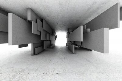 Obraz Abstrakcyjne geometryczne tle