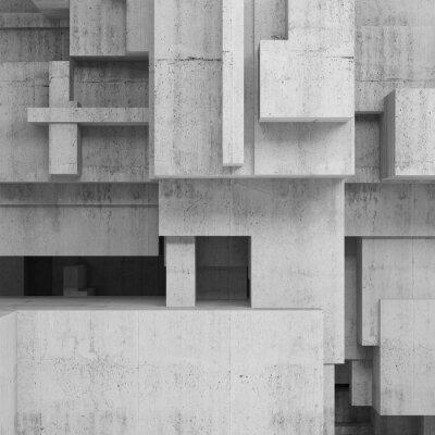 Obraz Abstrakcyjne konstrukcje betonowe, kwadrat tło