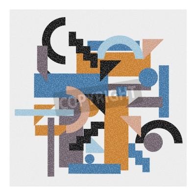 Obraz Abstrakcyjne tło geometryczne w stylu kubizmu.