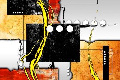 Obraz Abstrakcyjny obraz olejny ilustracji