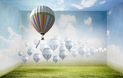 Obraz Aerostaty w niebie