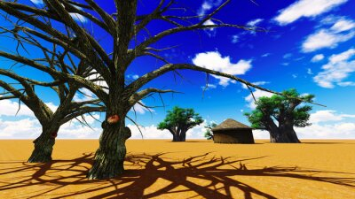Obraz African wieś