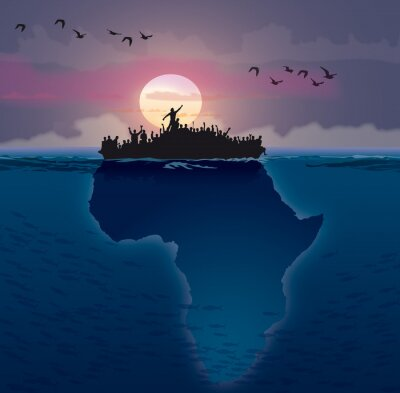 Obraz Afrique - Emigracja