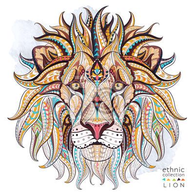 Obraz Afrykański / indian design / totem / tatuaż. Może być stosowany do projektowania t-shirt, torby, pocztówka, plakat i tak dalej.