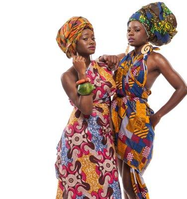 Obraz Afrykańskie modelki pozują sukienki.