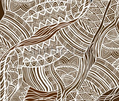 Obraz Afrykańskie tło w stylu etnicznym ręcznie malowane