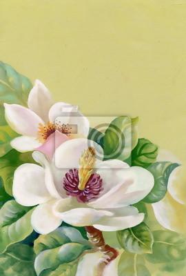 Akwarela białe kwiaty