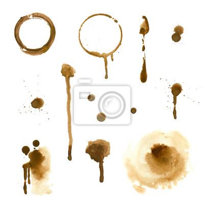 Akwarela brązowe plamy i smugi (kawa i herbata)