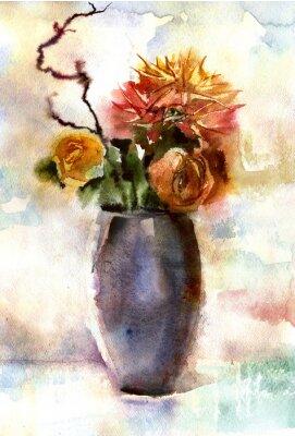 Obraz Akwarela bukiet kwiatów