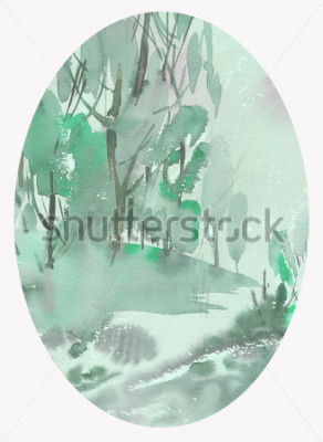 Obraz akwarela krajobrazu