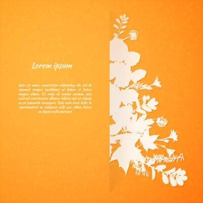 Akwarela malowane liści wektora kartkę z życzeniami