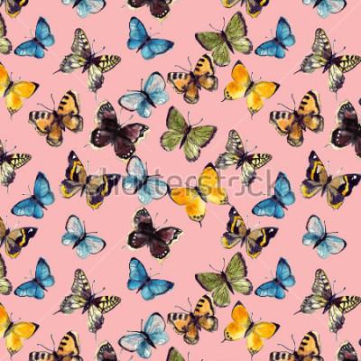 Obraz akwarela motyl wzór