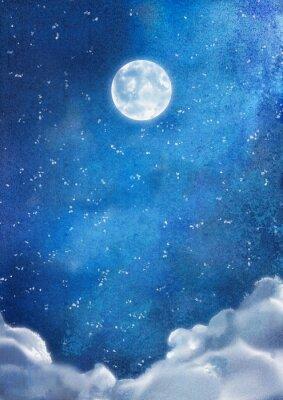 Obraz Akwarela Nightly Chmury