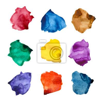 Akwarela tekstury: kolorowe plamy paletowe