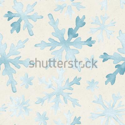 Obraz Akwarela wzór na papierze papieru. Boże Narodzenie w tle.