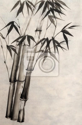 Akwarela z bambusa