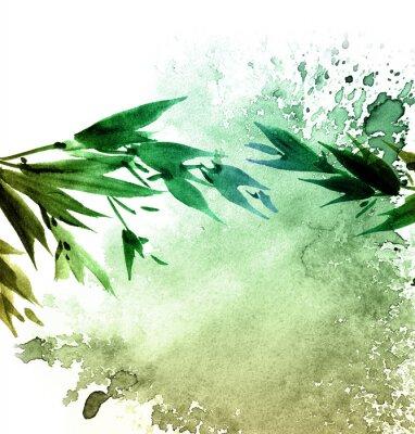 Obraz Akwarele malowane liście drzew